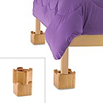 Blond Wood Bed Lifts (Set of 4)