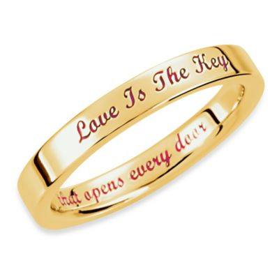 Love is the Key® 14K Yellow Gold 3MM Wedding Band