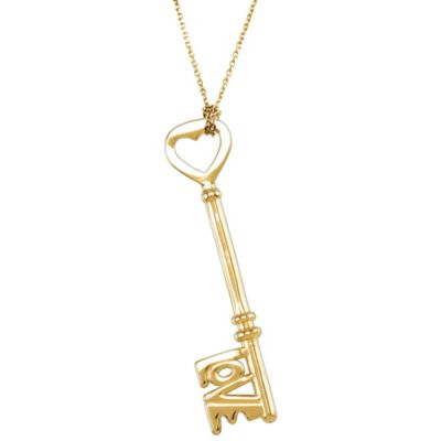 Love is the Key® Pendant Necklace in 14K Yellow Gold