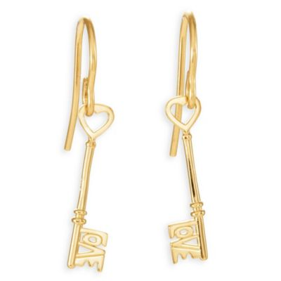 "Stuller 14K Yellow Gold ""Love Is The Key®"" Earrings"