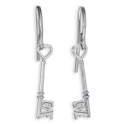 "Stuller Sterling Silver ""Love Is The Key®"" Earrings"