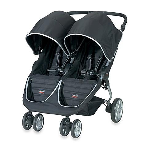 britax b agile double stroller in black buybuy baby. Black Bedroom Furniture Sets. Home Design Ideas
