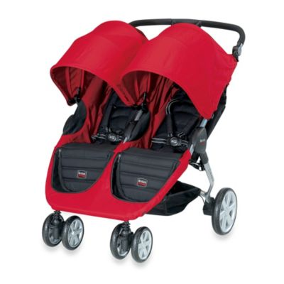 BRITAX B-Agile Double Stroller in Red