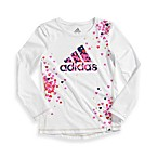 Adidas® Love to Win Graphic Tee with Hearts in White