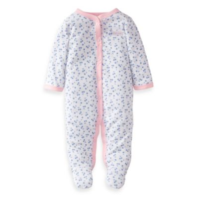 Carter's® Blue Cherry Print with Pink Border 1-Piece Footie