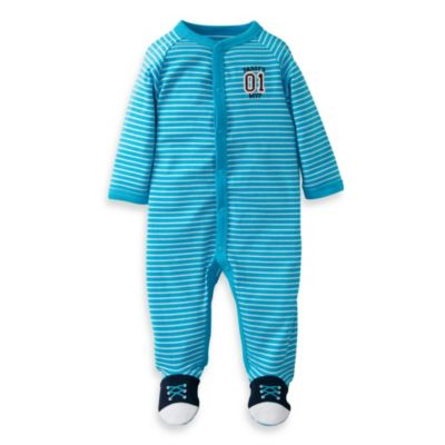 Carter's® Blue Stripe Sneakers 1-Piece Footie