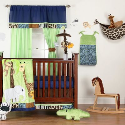 One Grace Place Jazzie Jungle Boy 5-Piece Crib Bedding Set