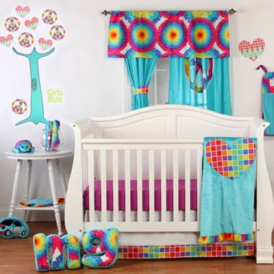 One Grace Place Terrific Tie Dye 8- Piece Crib Bedding Set