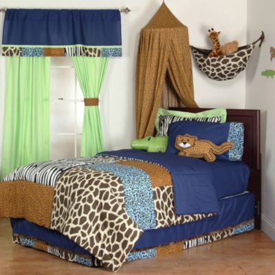One Grace Place Jazzie Jungle Twin 3-Piece Bedding Set