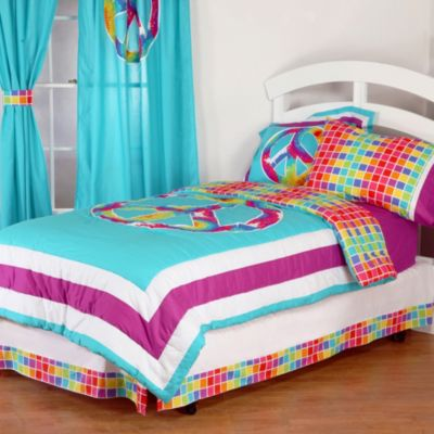 One Grace Place Terrific Tie Dye Twin Comforter