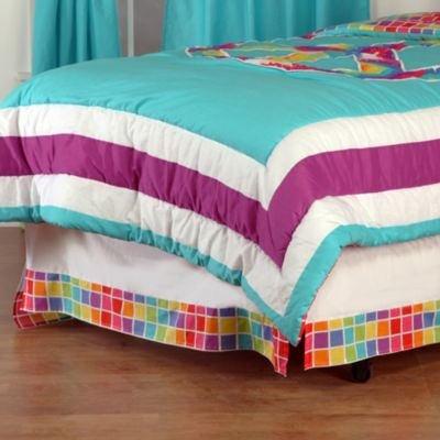 One Grace Place Terrific Tie Dye Twin Bed Skirt