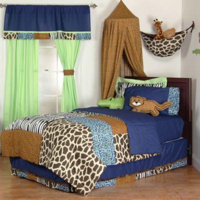 One Grace Place Jazzie Jungle Full 4-Piece Bedding Set