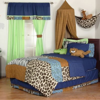 One Grace Place Jazzie Jungle Full 8-Piece Bedding Set