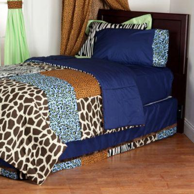 Blue Brown Full Comforter