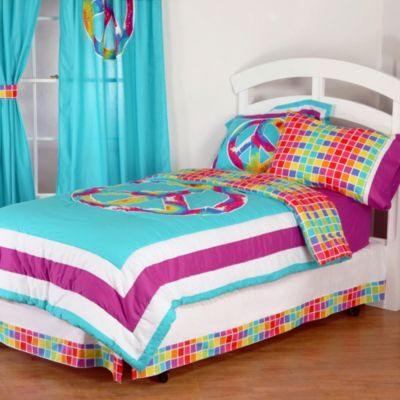 One Grace Place Terrific Tie Dye Full Comforter