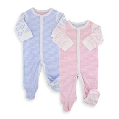 Twotara Reversible Pink-to-Blue Size 0-3 Months Unisex Footed Romper