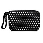 Built® Go-Go Diaper Clutch in Black and White Mini Dot
