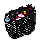 Built® Go-Go Diaper Tote in Mini Dot Black & White
