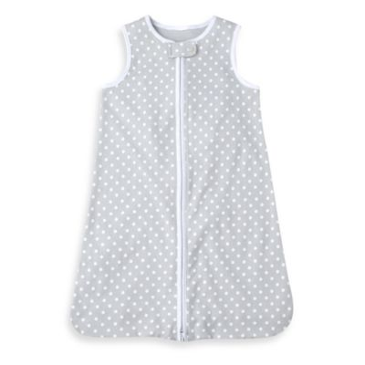 Just Born® Wear-a-Blanket in Grey Polka Dot