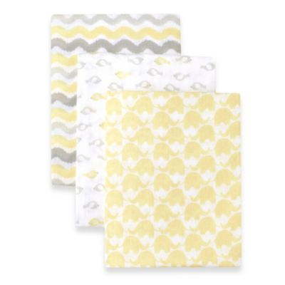 Just Born® 3-Pack Muslin Swaddle Blanket in Yellow Combo