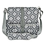 JJ Cole Backpack Diaper Bag in Grey Floret