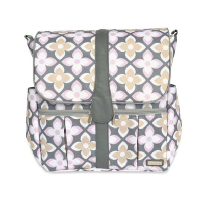 JJ Cole Backpack Diaper Bag in Pink Lily