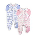 Twotara Reversible Pink-to-Blue Newborn Unisex Footed Romper