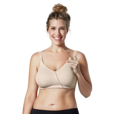 Bravado Essential Embrace™ Nursing Bra in Chai w/Almond Piping