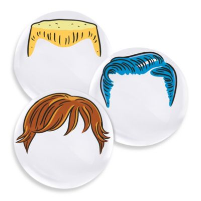 Fred & Friends® Set of 3 Boy Dinner Do's Plates