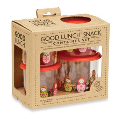 Sugarbooger® by o.r.e Good Lunch 4-Piece Snack Container Set in Matryoshka Doll