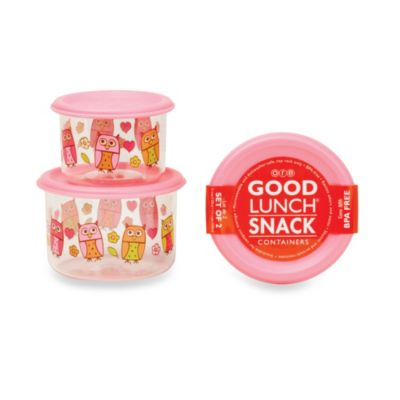 Sugarbooger® by o.r.e Hoot! Good Lunch® Snack Containers (Set of 2)