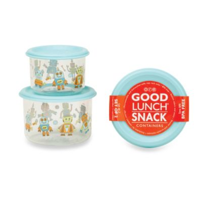 Sugarbooger® by o.r.e Retro Robot Good Lunch® Snack Containers (Set of 2)