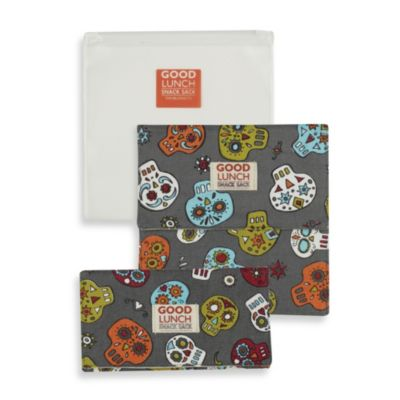 Sugarbooger® by o.r.e Good Lunch Set of 3 Snack Sack in Dia de los Muertos