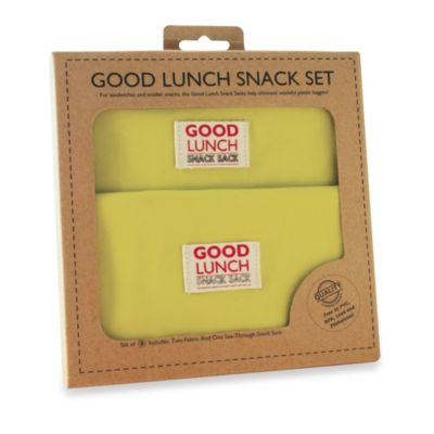 Sugarbooger® by o.r.e Good Lunch Set of 3 Snack Sack in Lemony Lime