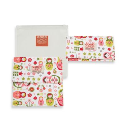 Sugarbooger® by o.r.e Good Lunch Set of 3 Snack Sack in Matryoshka Doll
