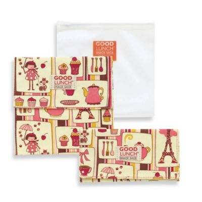 Sugarbooger® by o.r.e Good Lunch Set of 3 Snack Sack in Cupcake