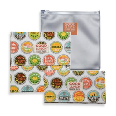 Sugarbooger® by o.r.e Good Lunch Set of 3 Snack Sack in Bottle Cap