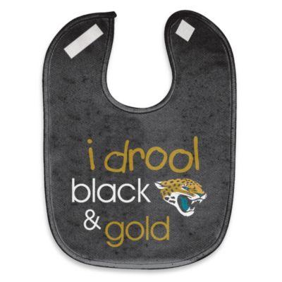 """NFL """"I Drool Black & Gold"""" Jacksonville Jaguars Mesh Bib"""