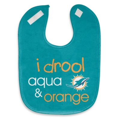 "NFL ""I Drool Aqua & Orange"" Miami Dolphins Mesh Bib"