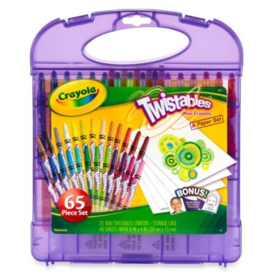 Crayola® Twistables 65-Piece Mini Crayons & Paper Set