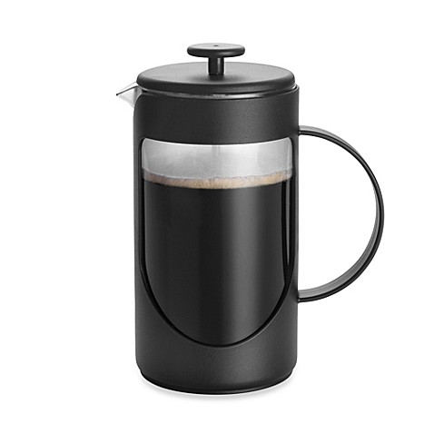 buy bonjour 3 cup ami matin unbreakable french press in black from bed bath beyond. Black Bedroom Furniture Sets. Home Design Ideas