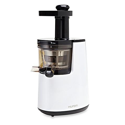 Hurom HH Series Premium Slow Juicer/Smoothie Maker with Cookbook in Pearl White - Bed Bath & Beyond