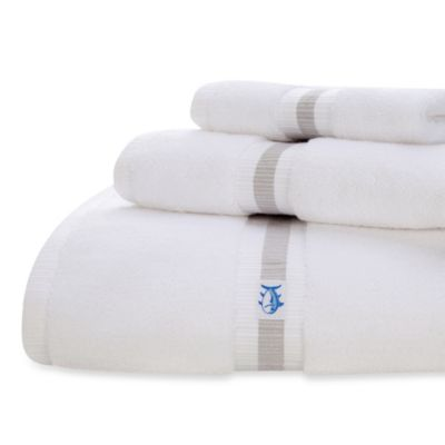 Southern Tide Skipjack Wash Towel in White