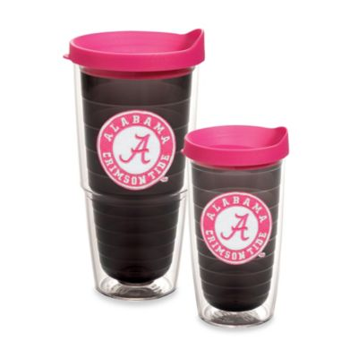 Tervis® University of Alabama 16-Ounce Emblem Tumbler with Lid in Neon Pink