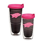 Tervis® University of Arkansas Tumbler with Lid in Neon Pink
