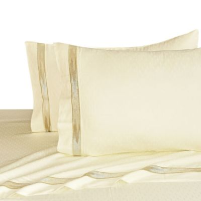upstairs by Dransfield & Ross Madrigal Queen Sheet Set