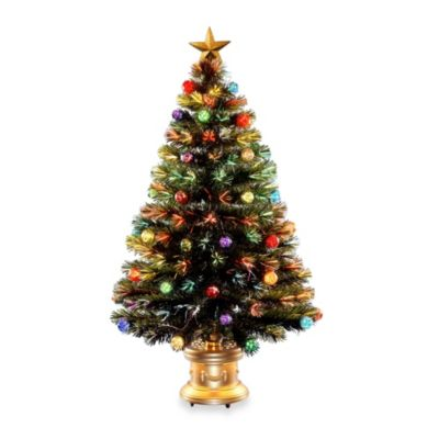 National Tree 48-Inch Fiber Optic Fireworks Tree