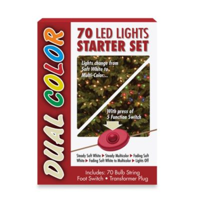 National Tree 70 Bulb Dual LED Starter Light Set