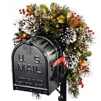National Tree 3-Foot Wintry Pine Collection Pre-Lit Mailbox Swag