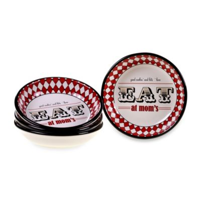 Certified International Eat at Mom's Soup Bowls (Set of 4)
